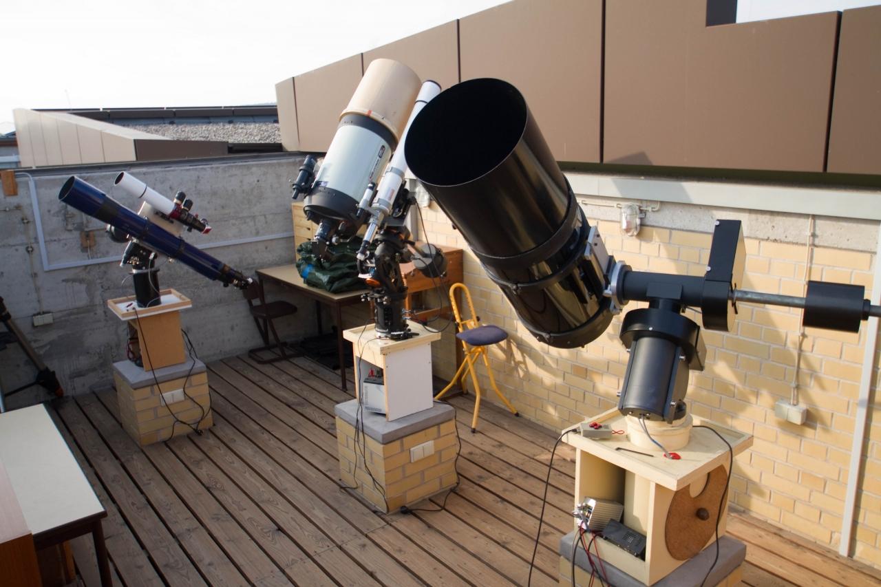Blick in den Beobachtungsraum der Sternwarte