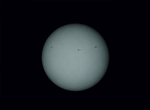 Sonnenflecken auf der Sonne, 20. Mai 2012